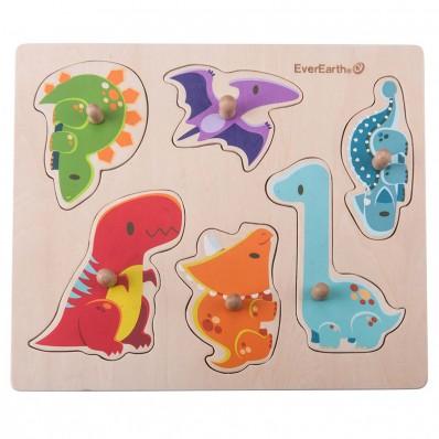 """Puzzle de Encaje """"Dinosaurios"""""""