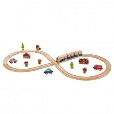 "Kit de Tren ""vía en 8"""